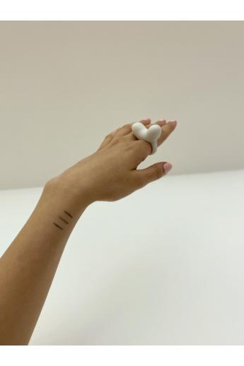 Botos Balázs: Horny Ring White gyűrű
