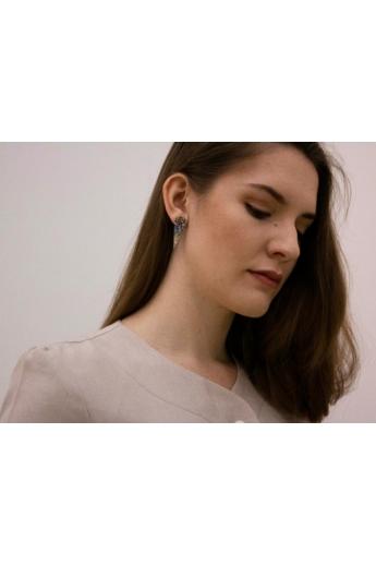 Kinga Horányi: IKIIKI ezüst fülbevaló / csepp