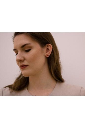 Kinga Horányi: IKIIKI ezüst fülbevaló / zöld kör