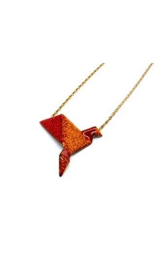 AME Creation: Origami madár / tűzzománc medál