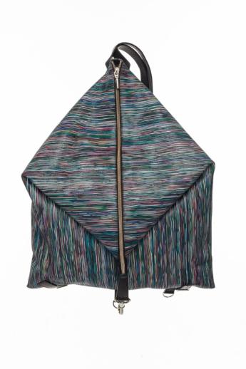 Artista: Delta bőr hátizsák - kék csíkos