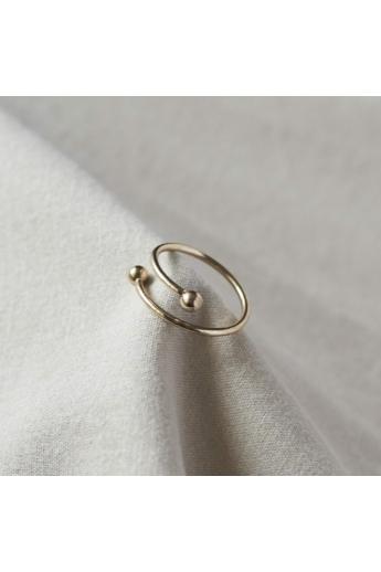 Babushka: Spiral gyűrű / aranyozott