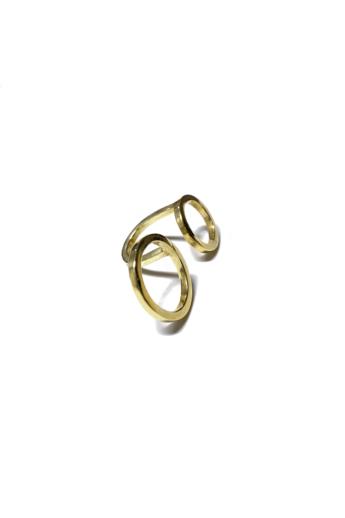 Babushka: Bulla gyűrű / aranyozott
