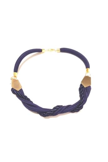 Bari's: Zsinór nyaklánc arany dísszel - kék
