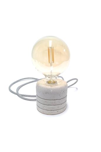 Kredenc: Papírbeton lámpa - óriás izzóval