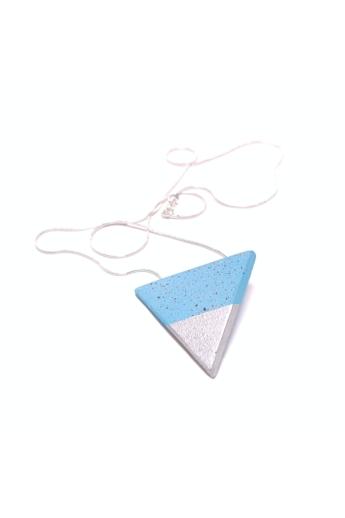 Bibeton: Kék háromszög medál keret nélküli