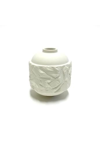 Botos Balázs: Rocky Vase Mini/ fehér váza