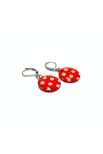 COTA: Piros pöttyös retró fülbevló