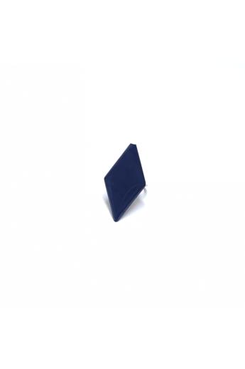 COTA: Sötétkék minimalista rombusz gyűrű