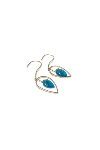 COTA: Kék kőcseppek homokból fülbevaló