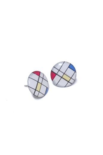 """COTA: Kör """"Mondrian"""" fülbevaló"""