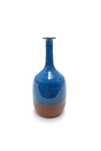 Czakó Kerámia: Kék Váza n1 / magasság 22cm, ø 9cm