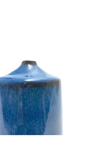 Czakó Kerámia: Kék Váza n3 / magasság 16cm, ø 8cm