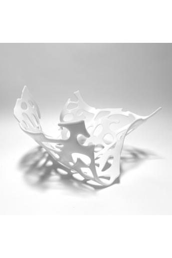 Deák Design: Korall üveg tál - fehér