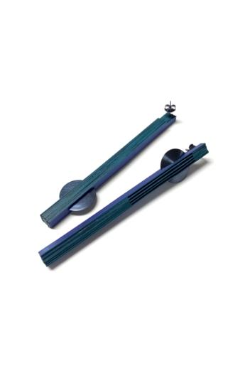 Veron: Nagy lamella fülbevaló - kék