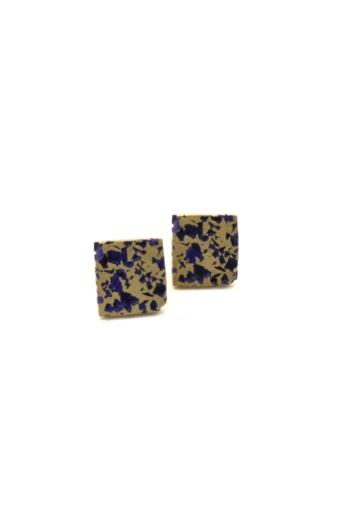 Kinga Horányi: IKIIKI ezüst fülbevaló / négyzet