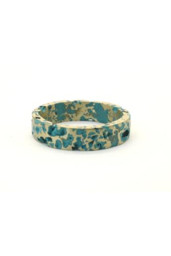 Kinga Horányi: IKIIKI ezüst gyűrű / zöld