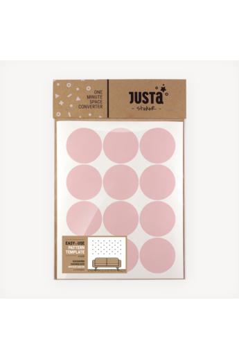 JUSTa Pötty falmatrica - rózsaszín