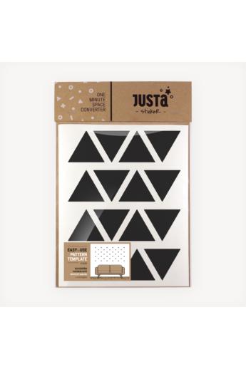 JUSTa Háromszög falmatrica - fekete