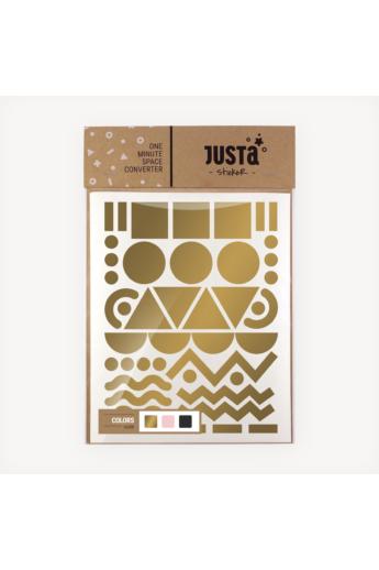 JUSTa Flash falmatrica - Paris - Arany+Fekete+Rózsaszín