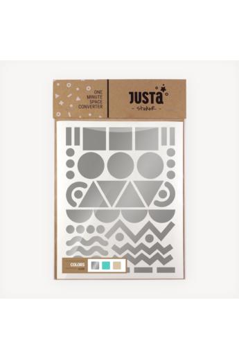 JUSTa Flash falmatrica - Sydney - Ezüst+Menta+Bézs