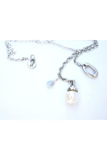 KAO: Ezüst jade, gyöngy lánc