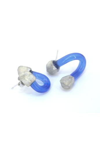 KAO: plexi csavart fülbevaló