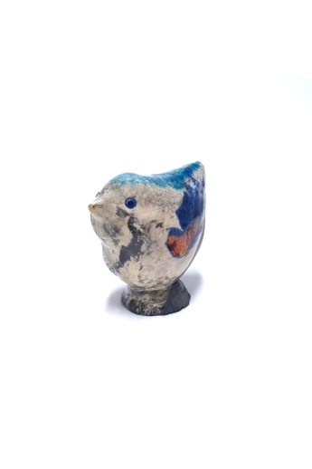 Kiss Gabi: Madár n2 / Raku kerámia / magasság 8 cm