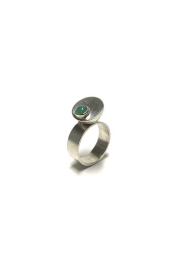 Krizokolla: Egyensúly ezüst gyűrű No1
