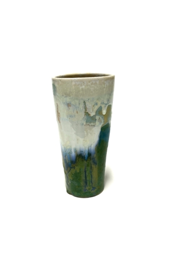 Márta Nóra: Impresszionista váza n1 / magasság 17cm, ø 9cm