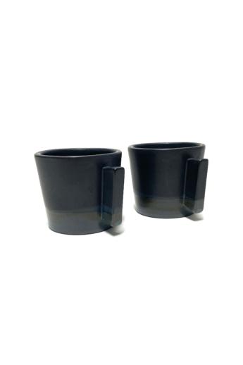 Márta Nóra: Kávéscsésze pár n2 / magasság 7cm, ø 7cm