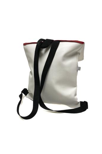 MADO: Square bag / Fehér - piros csíkkal