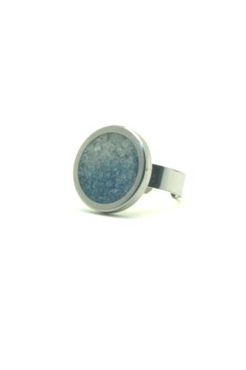 New Accent: Nagy beton gyűrű / kék