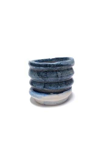 OHO CERAMICS: Recés kék váza
