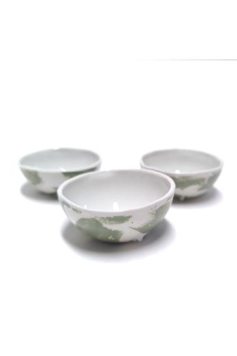 OHO CERAMICS: Porcelán szószos készlet / 3db