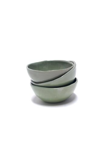 OHO CERAMICS: Porcelán szószos készlet pöttyel / 3db