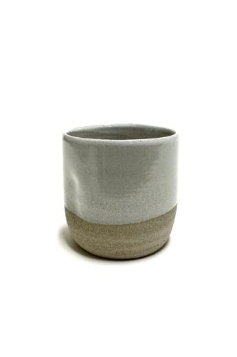 Pastel Ceramics:  Szürke nyomott bögre / magasság 8cm, ø 8cm