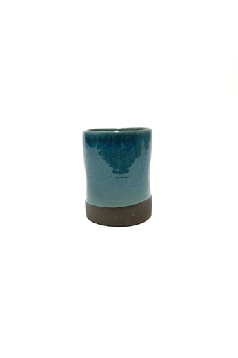 Pastel Ceramics:  Zöld nyomott bögre / magasság 8cm, ø 8cm