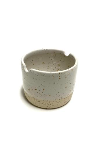 Pastel Ceramics:  Négyzet paletta és ecsettartó tálka n1 / ø 8cm
