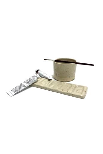 Pastel Ceramics:  Paletta és ecsettartó tálka n1 / ø 8cm