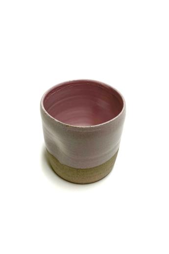 Pastel Ceramics:  Rózsaszín nyomott bögre / magasság 8cm, ø 8cm
