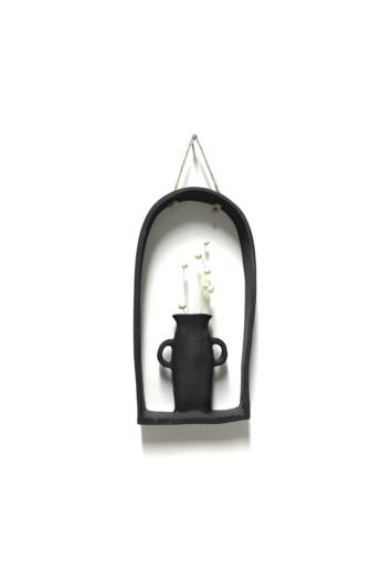 Pastel Ceramics:  Fekete falidísz / magasság 27 cm
