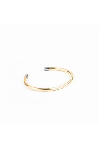 Personal Perception: Pretz Brass sárgaréz karkötő / Nagy méret, Vastag 4mm