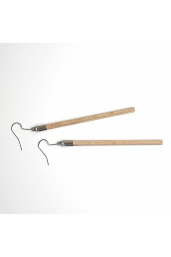 Personal Perception: Wood Earrings / fa fülbevaló, hosszú