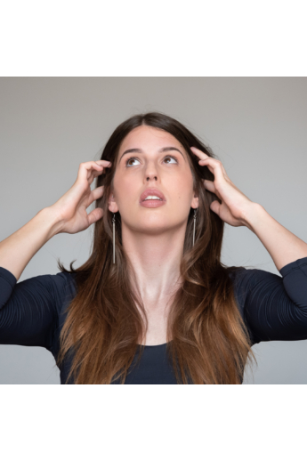 Personal Perception: Steel Earrings / acél fülbevaló, hosszú