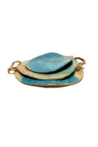 Rasa Ceramicart: Felhő tálca készlet / ø28cm, ø20cm, ø18cm