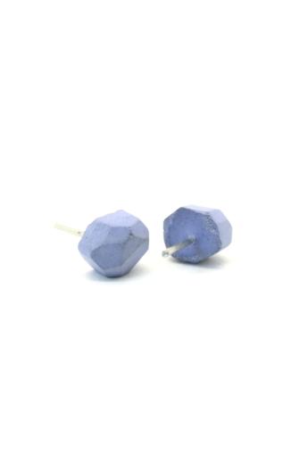 Rebelle: Kicsi kavics beton fülbevaló / lila