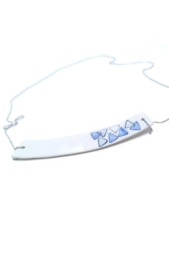 RE Jewel: Kék mintás porcelán medál