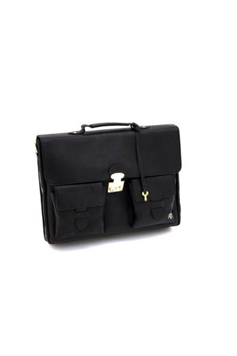 REQU Design: Fekete női bőr business bag
