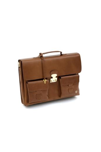 REQU Design: Camel színű női bőr business bag